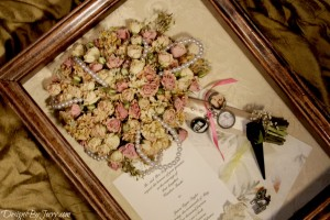 Preserved Spray Roses with Pearl Strands