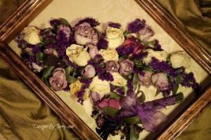 Lavender and Cream Roses Preserved