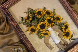 Preserved Sunflowers and Burlap