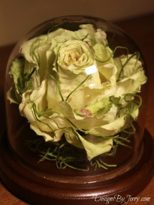 Green Composite Rose made from Lemonade Rose.