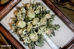 Preserved Bridal Bouquet of Roses and Hydrangea