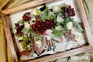 preserved dahlias and roses
